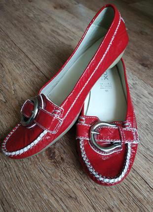 Geox respira лаковые туфли, балетки кожаные, брендовые туфли, лак