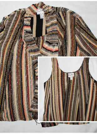 Красивый стрейчевый с блёстками пиджак+блузка ribkoff, комплек...