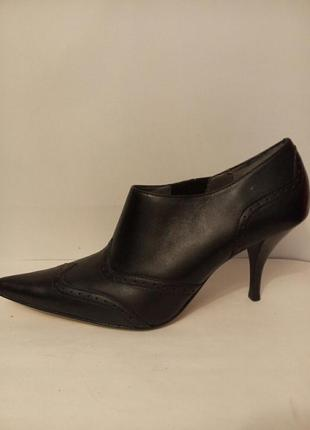 Кожа острый носок туфли ботинки ботильоны по стельке 26 см