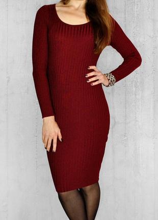 Платье-лапша в винном цвете! размер xs-m