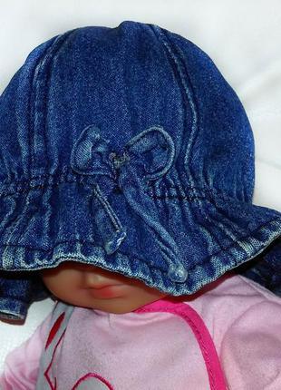 Джинсовая шапочка