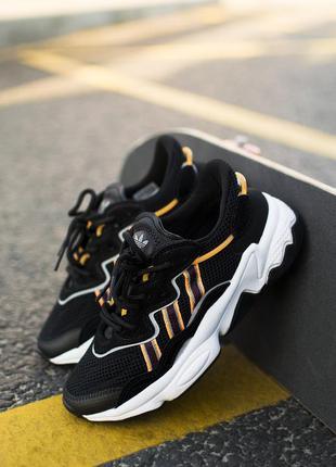 Adidas ozweego black/white/orange🔺женские кроссовки адидас озв...