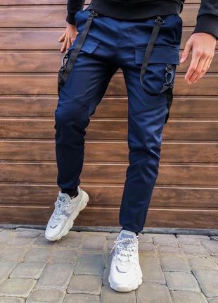 Спортивные мужские штаны с лямками