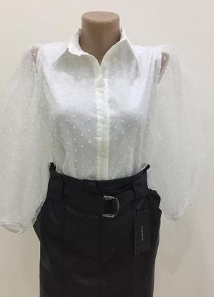 Белая блуза miss selen