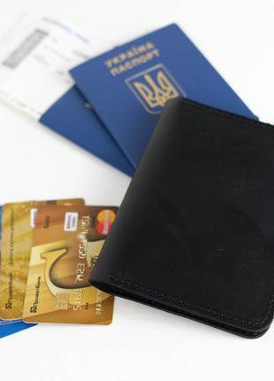 Кожаная обложка для паспорта и билетов из натуральной кожи ита...
