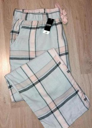 Фланелевые штаны для дома george, анг. 20-22 р. (евро 48-50 р.)