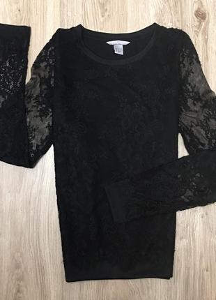 Женский ажурный свитшот/блуза р.м от h&m
