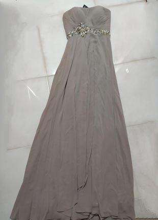 Вечернее платье в пол длинное шикарное