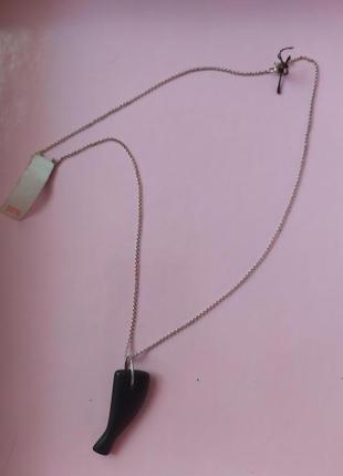 Серебряная цепочка с кулоном cos