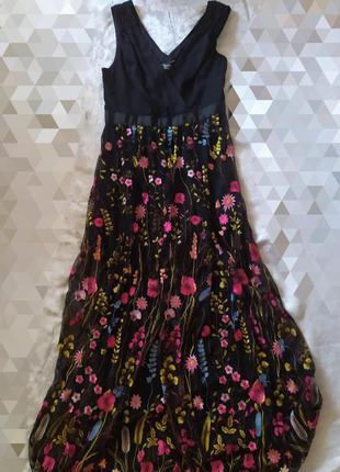 Длинное платье в пол ☑️ выбитые цветы