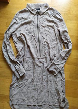 Серое платье - рубашка