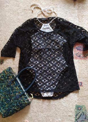 Блуза сетка тюль