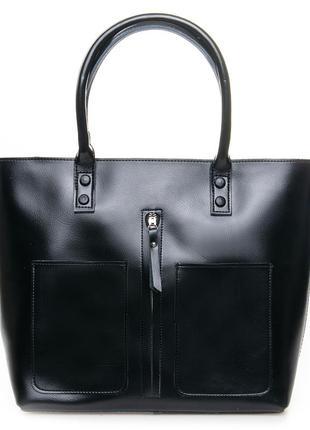 Большая женская кожаная сумка жіноча шкіряна а4