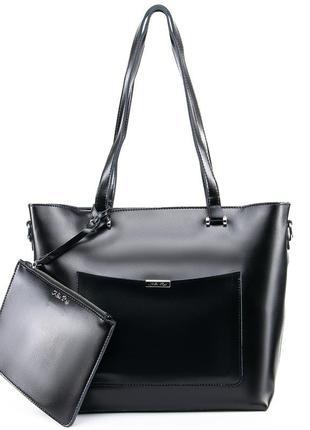 Женская кожаная сумка а4 жіноча шкіряна большая