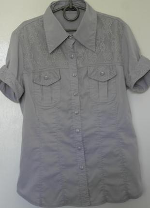 Серая блуза, рубашка