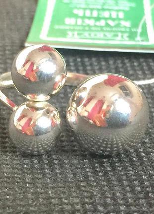 Новое красивое серебряное кольцо шарики серебро 925 пробы