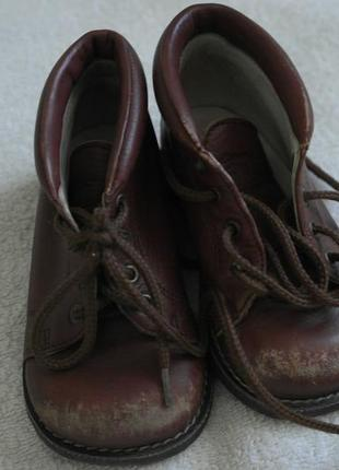 Кожаные ботинки ботиночки демисезон