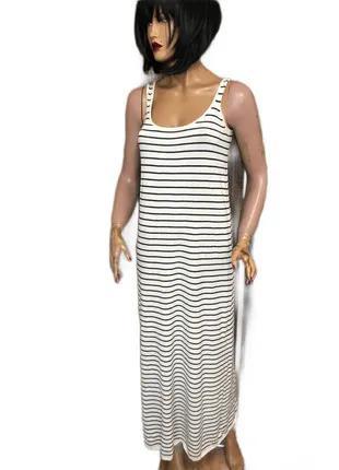 Платье маечное длинное в пол