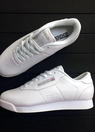 Reebok classic. женские кожаные белые кроссовки 😍 (весна/ лето...