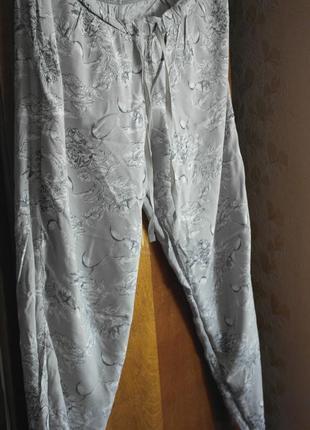 Брюки, штаны пижамные, для дома, домашние