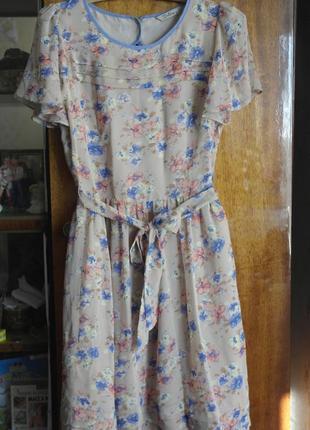 Красивое шифоновое летнее платье
