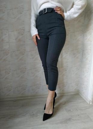 Женские брюки, классические брюки, брюки в полоску