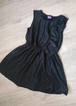 Платье на девочку, детское платье, модное черное платье на...