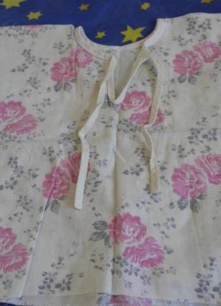 Рубашка распашонка в розы