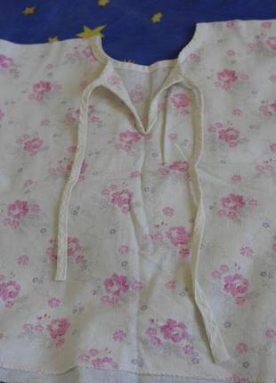 Рубашка распашонка с розами