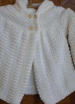 Белая накидка, пальто, кофта, болеро