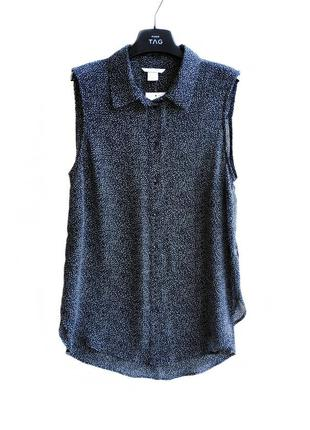 Шифоновая рубашка блуза без рукавов h&m.