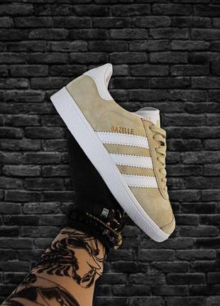 Кроссовки adidas gazelle beige white