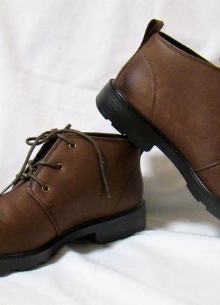 Ботинки мужские демисезонные кожаные коричневые hotter