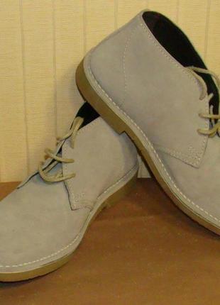 Ботинки мужские дезерты замшевые серые hotter