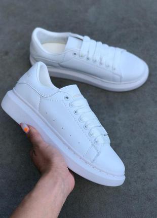 Женские кроссовки alexander mcqueen white 😍