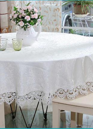 Нарядная скатерть 180* на круглый стол,в наличии оттенки