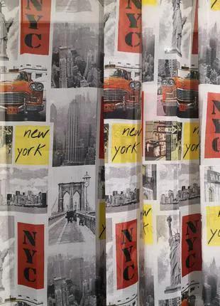 Занавеска штора тюль Нью-Йорк