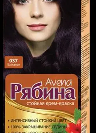 "Краска для волос ""Рябина"" Avena 037 Баклажан"