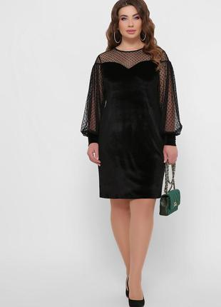 Нарядное велюровое платье *отличное качество
