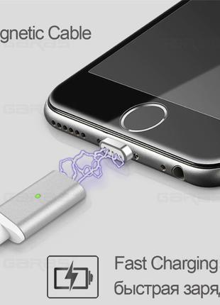 Магнитный зарядный кабель с micro USB коннектором