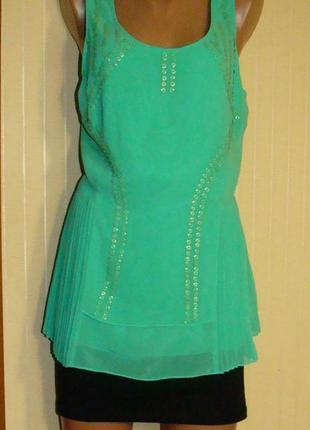Блузка женская нарядная маечка зеленая next