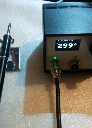 """Термовоздушная паяльная станция STM32 OLED 1.3"""" Hakko-T12 + фен"""