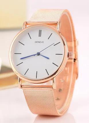 Женские наручные часы с позолотой Розовое золото