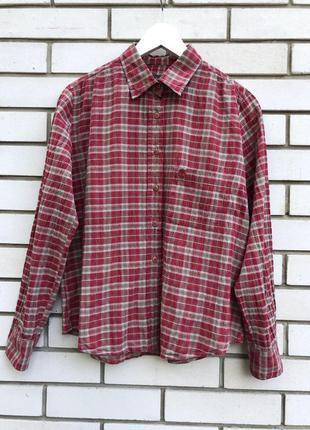 Красная рубашка в клеточку timberland
