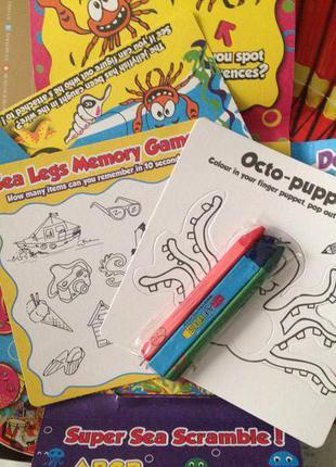 Набор для творчества рисования раскраска для детей на английском