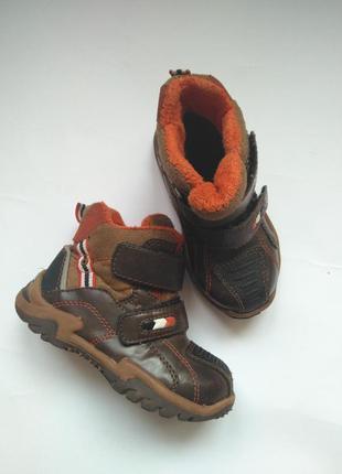 Ботинки сапожки на липучках деми осень весна 23 размер 16-16,5...