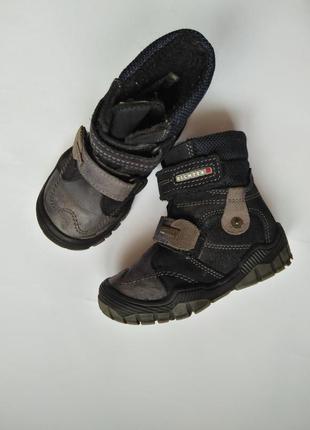 Ботинки сапожки на липучках  22 размер 15 см стелька