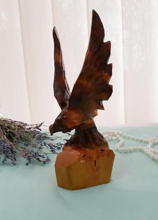 Орел ссср статуэтка деревянная сувенирная ручная резьба лакиро...