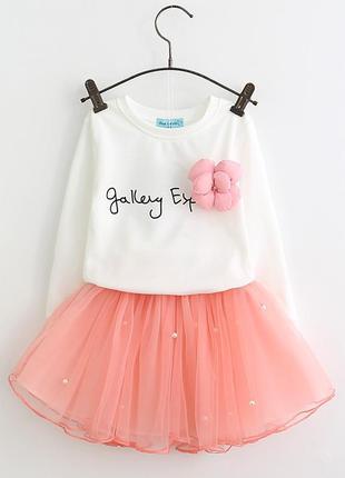 Продается новое платье (костюм) на девочку от 2-х до 6 лет