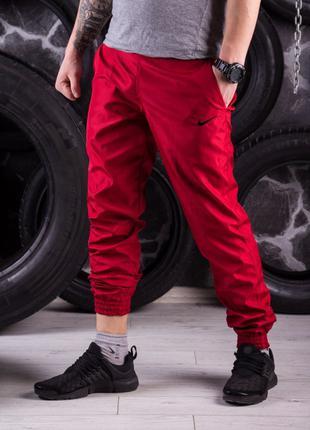 Спортивные штаны красные Nike (Найк)